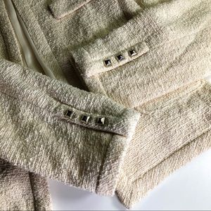 Zara Jackets & Coats - Zara Cream Textured Knit Blazer Jacket Size Medium